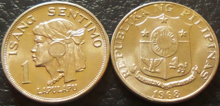 Moneda 1 SENTIMO ISANG - FILIPINE, anul 1968 *cod 2216 = UNC!