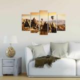 Tablou decorativ multicanvas Charm, 5 Piese, Peisaj, 223CHR1990, Multicolor