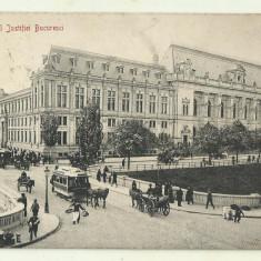 cp Bucuresti : Palatul Justitiei - UPU, circulata 1914,timbru maghiar