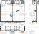 Radiator incalzire interior BMW Seria 3 (E46) (1998 - 2005) HELLA 8FH 351 311-331