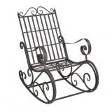 Scaun balansoar din metal, verde, pentru gradina- vintage, verde