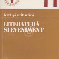 Literatura si eveniment