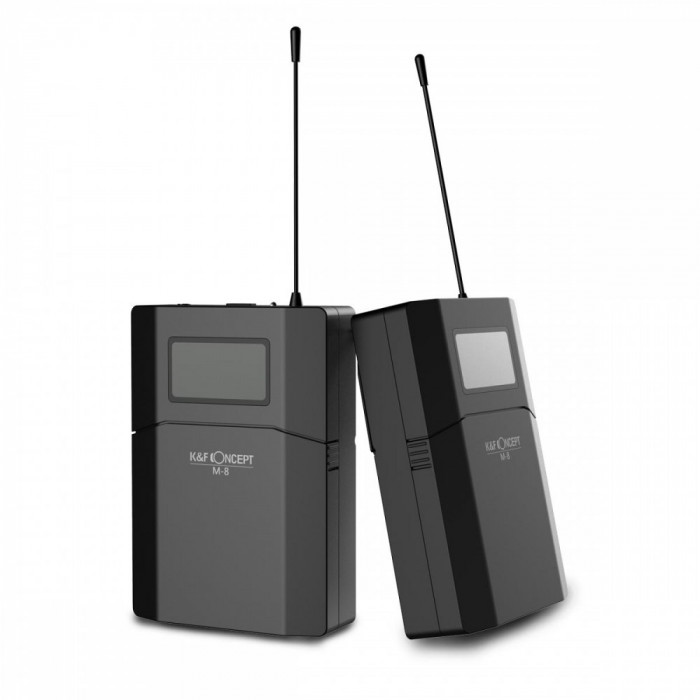 K&F Concept Microfon Wireless M8 UHF pentru camere video KF10.002