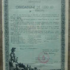 Obligatiune de 1000 lei/ Imprumutul Retragerii din 1941