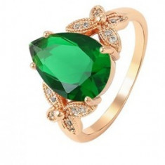 Inel Luxury Green Emerald