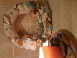 Coroniță handmade cu tema marină