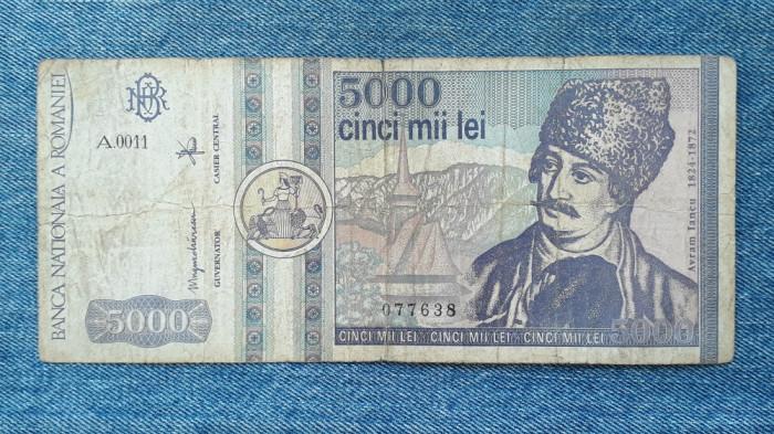 5000 Lei 1992 Romania / seria 077638