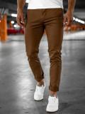 Pantaloni chinos maro bărbați Bolf 1146