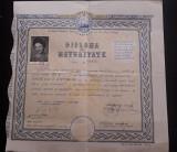 Diploma de maturitate RPR 1960