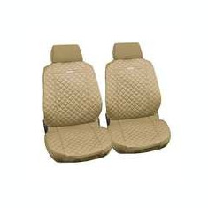 Huse scaun fata din bumbac Ziga 2buc - Bej ManiaMall Cars