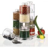 Set recipiente pentru condimente 12 piese Spice Tower Carousel, Oem