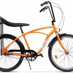 Bicicleta Pegas Strada 1 ALU 3S 2017, Cadru 17inch, Roti 26inch, 3 Viteze (Portocaliu)