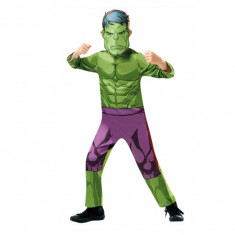 Costum carnaval Hulk pentru copii Avengers War 104 cm 3 4 ani
