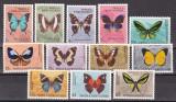 Papua  Noua  Guinee  1966  fauna  fluturi  MI 83-94   MNH   w60