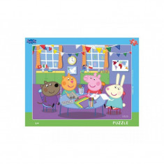 Puzzle cu rama Purcelusa Peppa Dino Toys, 40 piese, 4 ani+