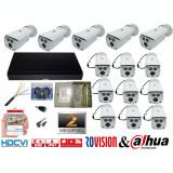 Cumpara ieftin Kit supraveghere video profesional 14 camere Rovision OEM DAHUA 2MP IR 80m , accesorii incluse, DVR 16 canale 5MP