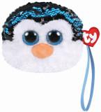 Cumpara ieftin Gentuta De Mana Din Plus Ty 10Cm Pinguinul Waddles Cu Paiete