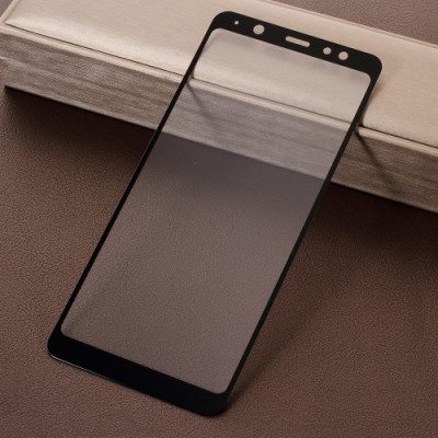 Geam Protectie Display Samsung Galaxy A6 Plus 2018 Acoperire Completa Negru foto