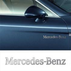 Stickere laterale CHROME - MERCEDES-BENZ (set 2 buc.)