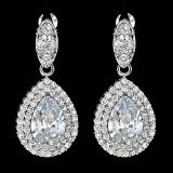 Cercei placati cu Aur 18K si Diamante, Artemis Platinum