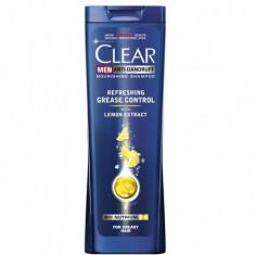 Sampon Clear Men Refreshing Grease Control pentru gras, 400 ml