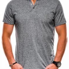 Tricou slim fit barbati S1047 - gri