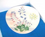 Cumpara ieftin Platou aplica mare, ceramica pictata manual - design Anita Nylund, JIE Suedia