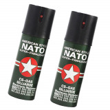 Set 2 Spray-uri Nato lacrimogen cu piper!