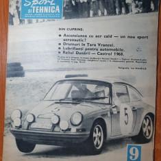 sport si tehnica septembrie 1968-balonul cu aer cald,tara vrancei,raliul dunarii
