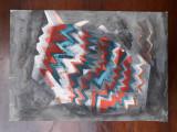 26. Pictura abstracta, acuarela veche