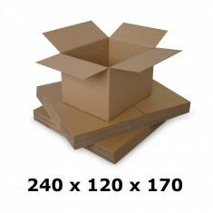 Cutie carton 240x120x170, natur, 5 straturi CO5, 690 g/mp