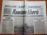 romania libera 22 mai 1990-art. victorie impotriva cui ?,alegerile din Romania