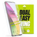 Cumpara ieftin Folie OnePlus 8 Ringke Dual Easy Full Cover 2 Pack Clear