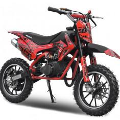 Mini motocicleta electrica pentru copii NITRO Eco Serval 500W 10/10 #Rosu