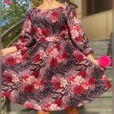Cumpara ieftin Rochie Florala Trandafira 3