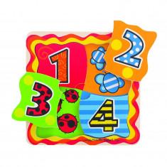 Primul meu puzzle numere Bigligs, 4 piese, 1 an+