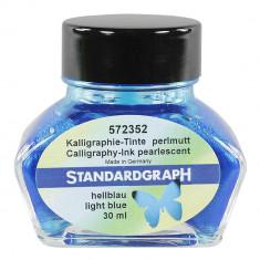 Cerneala perlata caligrafie blue Standardgraph 30 ml