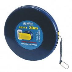 Ruleta lunga cu banda din fibra Mega, 20 m