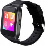 Smartwatch iUni U17, Capacitive touchscreen 1.54inch, Procesor Dual-Core 1.2GHz, 128MB RAM, Bluetooth, Bratara silicon, 1.3MP, Functie telefon (Negru)