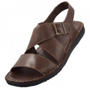 Sandale barbati, din piele naturala, marca Walk, 2307-36040-02-38, maro , marime: 44