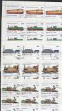 Niger 1980 Trains Locomotives x 25 sets Mi.707-11 used V.015