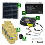 Pachet gard electric cu Panou solar 2,5J putere și 10.000m Fir 160Kg