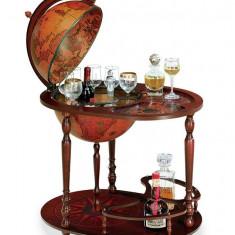 Glob pamantesc pe rotile tip bar cu suport pentru sticle si tava - 40 cm, Zoffoli