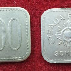Moneda - Jeton vechi perioada regala 1930  STEAUA ROMANA SCHELA valoare 100 Lei