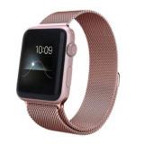 Curea smartwatch Devia Elegant Series Milanese Loop Rose Gold pentru Apple Watch 38mm / 40mm