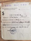1947, Universitatea București, rectoratul, Chitanță Paul Soviani