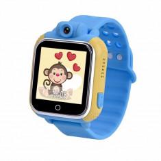 Ceas cu telefon Smartwatch cu GPS pentru copii Wonlex Blue Kid 3G cu camera...