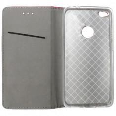 Husa tip carte cu stand Smart Magnet rosie pentru Huawei P8 Lite 2017 (P9 Lite 2017)