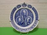 Cumpara ieftin Rara !! REGII SCANDINAVI WWI - farfurie PORTELAN de colectie RORSTRAND , 1914, Decorative