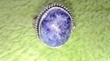 Inel argint placat cu lapis lazuli